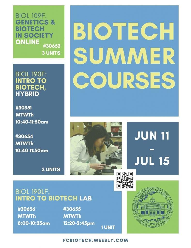 Summer 2018 Courses - Fullerton College
